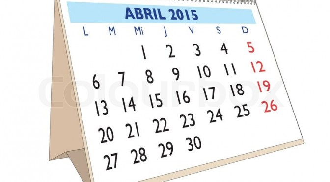 Calendario Tributario DIAN Abril 2015