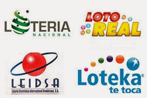Loteria Dominicana, Leidsa, Loto Real y Loteka